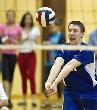 beginning volleyball Player