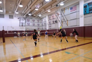 Women's volleyball league game at Brearlet