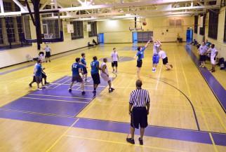 Basketball game at Julia Richman HS plyoff.