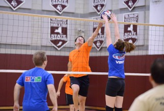 Coed volleyball game at Brearley 2