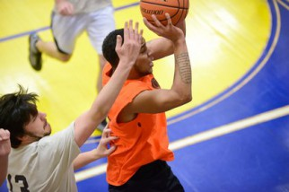 Men's Summer Basketball League action