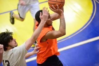 Men's Summer Basketball League action