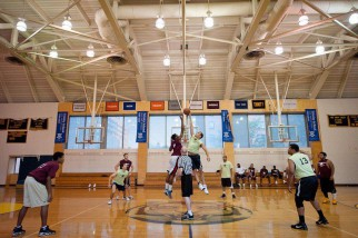 NYC Basketball league Tipoff at Trinity HS