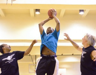 strong rebound in men's over 40 basketball league