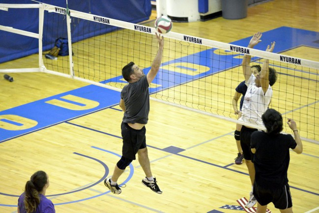 coed volleyball game