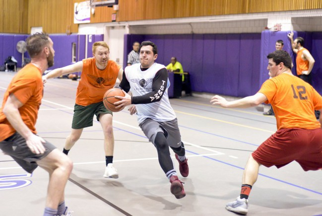 player goes to the hoop